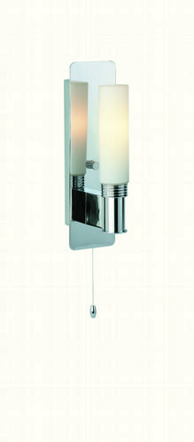 Firstlight 5753CH Chrome with Opal Glass Spa Single Wall Light (Switched)